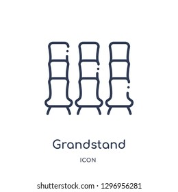 Linear grandstand icon from Education outline collection. Thin line grandstand icon isolated on white background. grandstand trendy illustration