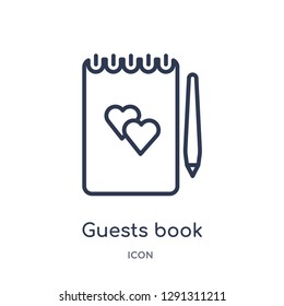 Wedding Gift Registry Linear Guests Book Icon From Birthday Party Outline Collection Thin Line Vector Isolated