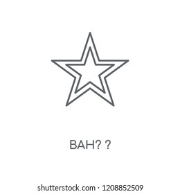 Bah? ? linear icon. Bah? ? concept stroke symbol design. Thin graphic elements vector illustration, outline pattern on a white background, eps 10.