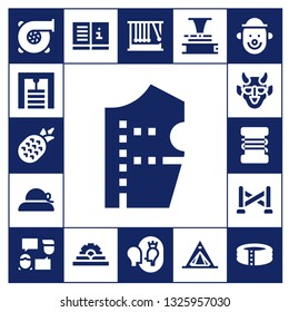 linear icon set. 17 filled linear icons.  Simple modern icons about  - Turbo, Gym station, Pineapple, Pattern design, Pamela, Hannya, Fishing line, Police line, Talk, Manual, Momentum