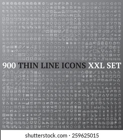 Linear icons exclusive XXL collection ideal for wireframe developing and mockup design