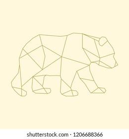 Linear illustration of a bear
