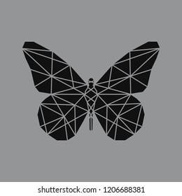 Linear illustration of a butterfly