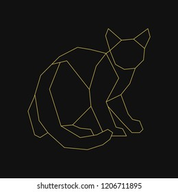 Linear illustration of a cat