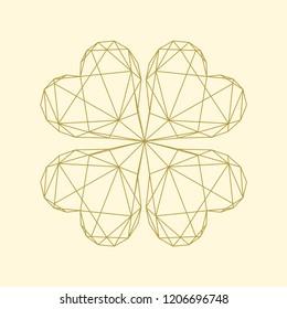 Linear illustration of a clover leaf