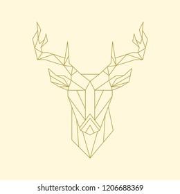 Linear illustration of a deer