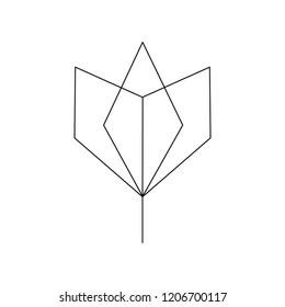 Linear illustration of a flower