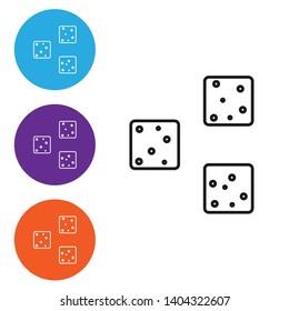Linear illustration in four style Sugar logo. Three cubes icon.