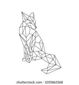 linear illustration - fox