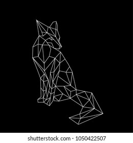 linear illustration - fox