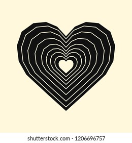 Linear illustration of a heart