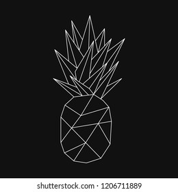 Linear illustration of a pineapple