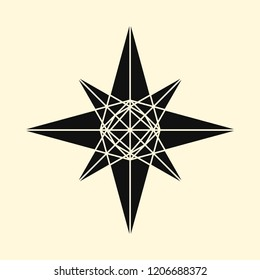Linear illustration of a star