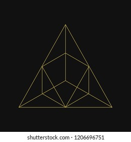 Linear illustration of a triangle