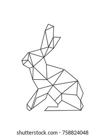Linear Image Of A Hare