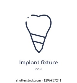 Linear implant fixture icon from Dentist outline collection. Thin line implant fixture icon isolated on white background. implant fixture trendy illustration