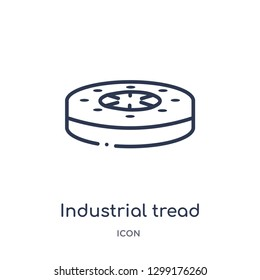 Linear industrial tread icon from Industry outline collection. Thin line industrial tread icon isolated on white background. industrial tread trendy illustration