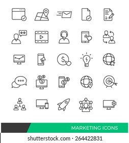 Linear Internet Marketing line icons