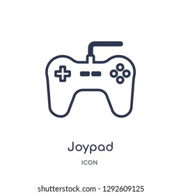 Linear joypad icon from Electronic stuff fill outline collection. Thin line joypad icon vector isolated on white background. joypad trendy illustration