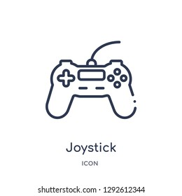 Linear joystick icon from Electronic devices outline collection. Thin line joystick icon vector isolated on white background. joystick trendy illustration