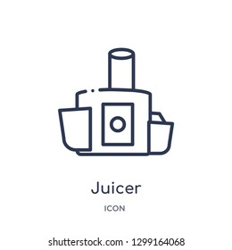 Linear juicer icon from Kitchen outline collection. Thin line juicer icon isolated on white background. juicer trendy illustration