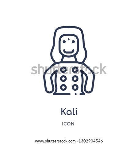 Linear kali icon from