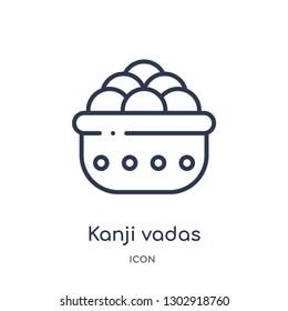 Linear kanji vadas icon from India and holi outline collection. Thin line kanji vadas icon isolated on white background. kanji vadas trendy illustration