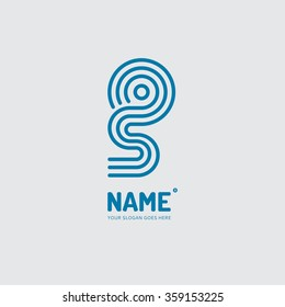 linear letter s in a circle passing logo design vector template company mobile