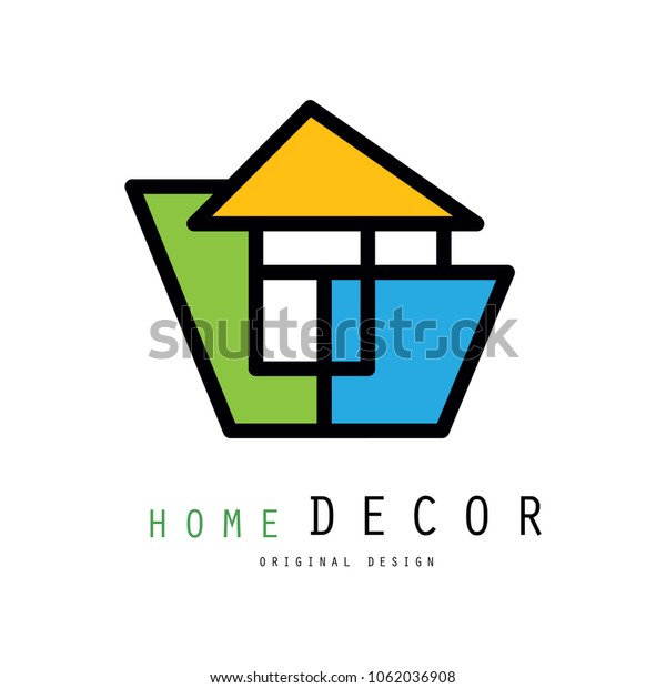 Linear Logo Home Decorating Company Business Stock Vector Royalty Free 1062036908