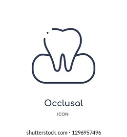 Linear occlusal icon from Dentist outline collection. Thin line occlusal icon isolated on white background. occlusal trendy illustration