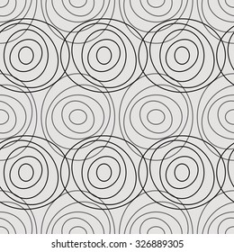 The linear pattern of circles in layers, seamless vector background.