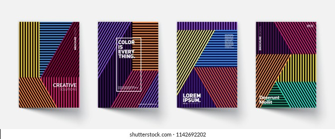 Linear pattern covers set.  Eps10 vector.