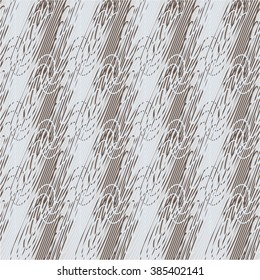Linear pattern in diagonal, twisted, seamless vector background.