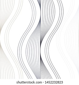 Linear pattern grid, curve, simple, multipurpose, seamless vector background.