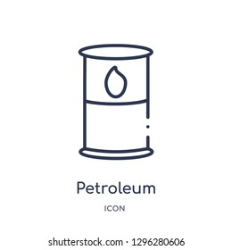 Linear petroleum icon from Desert outline collection. Thin line petroleum icon vector isolated on white background. petroleum trendy illustration