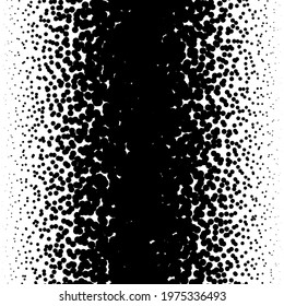 Linear pointillist halftone, screentone random dots, circles pattern