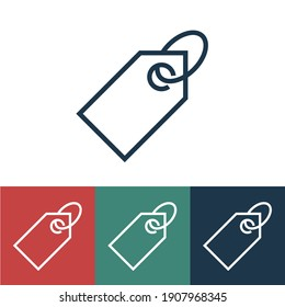 Linear  price tag vector icon