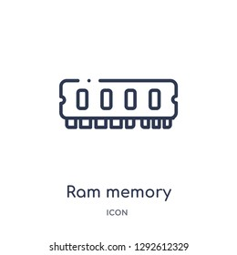 Linear ram memory icon from Electronic devices outline collection. Thin line ram memory icon vector isolated on white background. ram memory trendy illustration