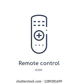 Linear remote control icon from Artifical intelligence outline collection. Thin line remote control vector isolated on white background. remote control trendy illustration