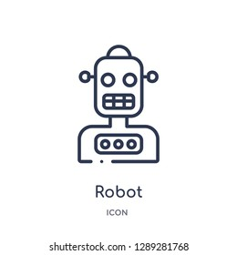 Linear robot icon from Artifical intelligence outline collection. Thin line robot vector isolated on white background. robot trendy illustration
