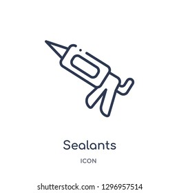 Linear sealants icon from Dentist outline collection. Thin line sealants icon isolated on white background. sealants trendy illustration