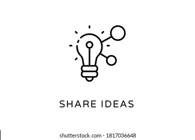 Linear Share Ideas icon in vector. Logotype