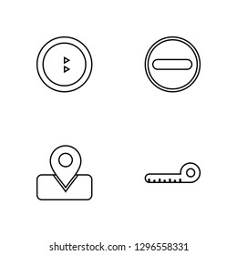 Linear Share, Placeholder, Subtraction, Ruler Vector Illustration Of 4 outline Icons. Editable Pack Of Share, Placeholder, Subtraction, Ruler