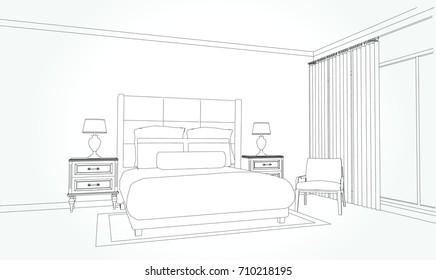 Bedroom Perspective Images Stock Photos Vectors Shutterstock