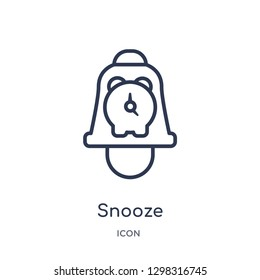 Linear snooze icon from Miscellaneous outline collection. Thin line snooze icon isolated on white background. snooze trendy illustration