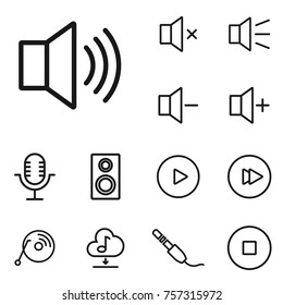 linear sound and volume icon set