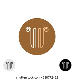 Linear style column or lira logo