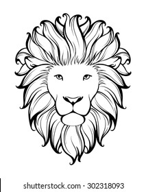 Lion Head Line Drawing Images Stock Photos Vectors Shutterstock Also, find more png clipart about. https www shutterstock com image vector linear stylized lion black white graphic 302318093