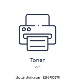 Linear toner icon from Electronics outline collection. Thin line toner icon isolated on white background. toner trendy illustration