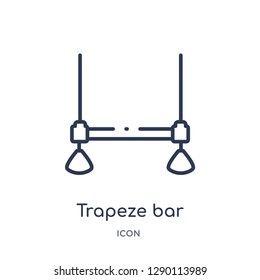 Linear trapeze bar icon from Circus outline collection. Thin line trapeze bar vector isolated on white background. trapeze bar trendy illustration